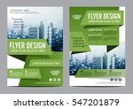 greenery brochure layout design ... | Shutterstock .eps vector #547201879