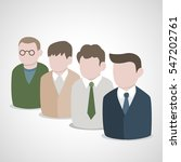 group of business people icons... | Shutterstock .eps vector #547202761