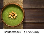 fresh cream of zucchini soup... | Shutterstock . vector #547202809