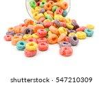 Delicious Fruit Cereal In Glas...