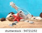 sea still life the message in a ... | Shutterstock . vector #54721252