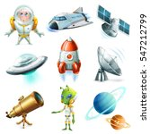 space  spaceship  planet ... | Shutterstock .eps vector #547212799
