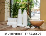 spa set of copy space cosmetic... | Shutterstock . vector #547216609