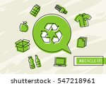 recycle it vector illustration. ... | Shutterstock .eps vector #547218961