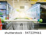 supermarket aisle with empty... | Shutterstock . vector #547229461