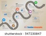 design template  road map... | Shutterstock .eps vector #547230847