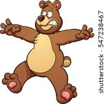 scared cartoon bear. vector... | Shutterstock .eps vector #547238467