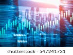 stock market or forex trading... | Shutterstock . vector #547241731