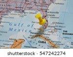 pushpin marking the miami  usa   Shutterstock . vector #547242274