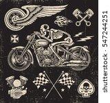 scratchboard motorcycle elements | Shutterstock .eps vector #547244251