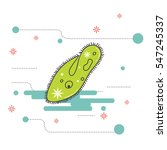 paramecium creative flat design ...   Shutterstock .eps vector #547245337