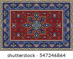 colorful mosaic rug with... | Shutterstock .eps vector #547246864