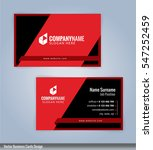 black and red modern business... | Shutterstock .eps vector #547252459