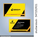 yellow and black modern... | Shutterstock .eps vector #547252921