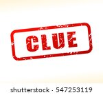 illustration of clue text  | Shutterstock .eps vector #547253119