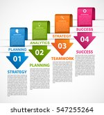 infographic template for... | Shutterstock .eps vector #547255264