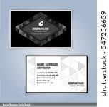 black and white modern business ... | Shutterstock .eps vector #547256659
