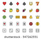 vector slot machine symbols and ... | Shutterstock .eps vector #547262551