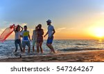 group of happy young people... | Shutterstock . vector #547264267
