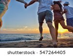 group of happy young people... | Shutterstock . vector #547264405