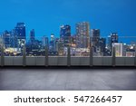 empty terrace with cityscape... | Shutterstock . vector #547266457