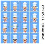 big set of cook emoticons. cook ... | Shutterstock .eps vector #547267615