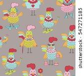 seamless pattern with cute... | Shutterstock . vector #547271185