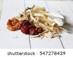 chinese herb on white wooden... | Shutterstock . vector #547278439