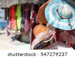 Sale Of Hats And Clothes In A...