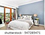 modern decorative bedroom... | Shutterstock . vector #547285471