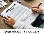 life insurance policy terms of... | Shutterstock . vector #547288375