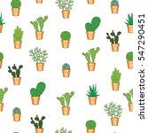 cactus seamless pattern. hand... | Shutterstock .eps vector #547290451