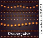christmas garlands set. vector... | Shutterstock .eps vector #547292611