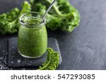 delicious  kale pesto sauce and ... | Shutterstock . vector #547293085