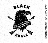black eagle. hand drawn emblem. | Shutterstock .eps vector #547299199