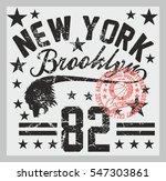 new york basketball college... | Shutterstock .eps vector #547303861