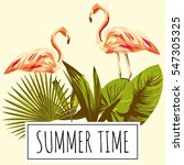 slogan summer time tropical... | Shutterstock .eps vector #547305325