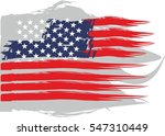 american flag grunge style...   Shutterstock .eps vector #547310449