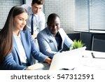 startup business team on... | Shutterstock . vector #547312591