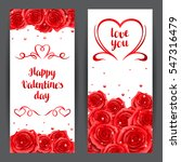 happy valentine day banners... | Shutterstock .eps vector #547316479