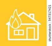house on fire | Shutterstock .eps vector #547317421