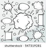 comic  speech bubbles in retro... | Shutterstock .eps vector #547319281