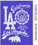 california college style ... | Shutterstock .eps vector #547322815