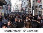 crowd of diverse people walking ... | Shutterstock . vector #547326481
