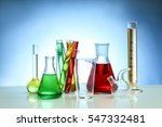 chemical flasks and test tubes... | Shutterstock . vector #547332481