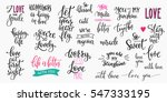 romantic lettering set.... | Shutterstock .eps vector #547333195