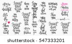 romantic lettering set.... | Shutterstock .eps vector #547333201