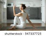 sporty attractive woman... | Shutterstock . vector #547337725