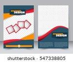 abstract flyer design...   Shutterstock .eps vector #547338805