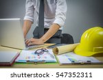 architect man working with... | Shutterstock . vector #547352311